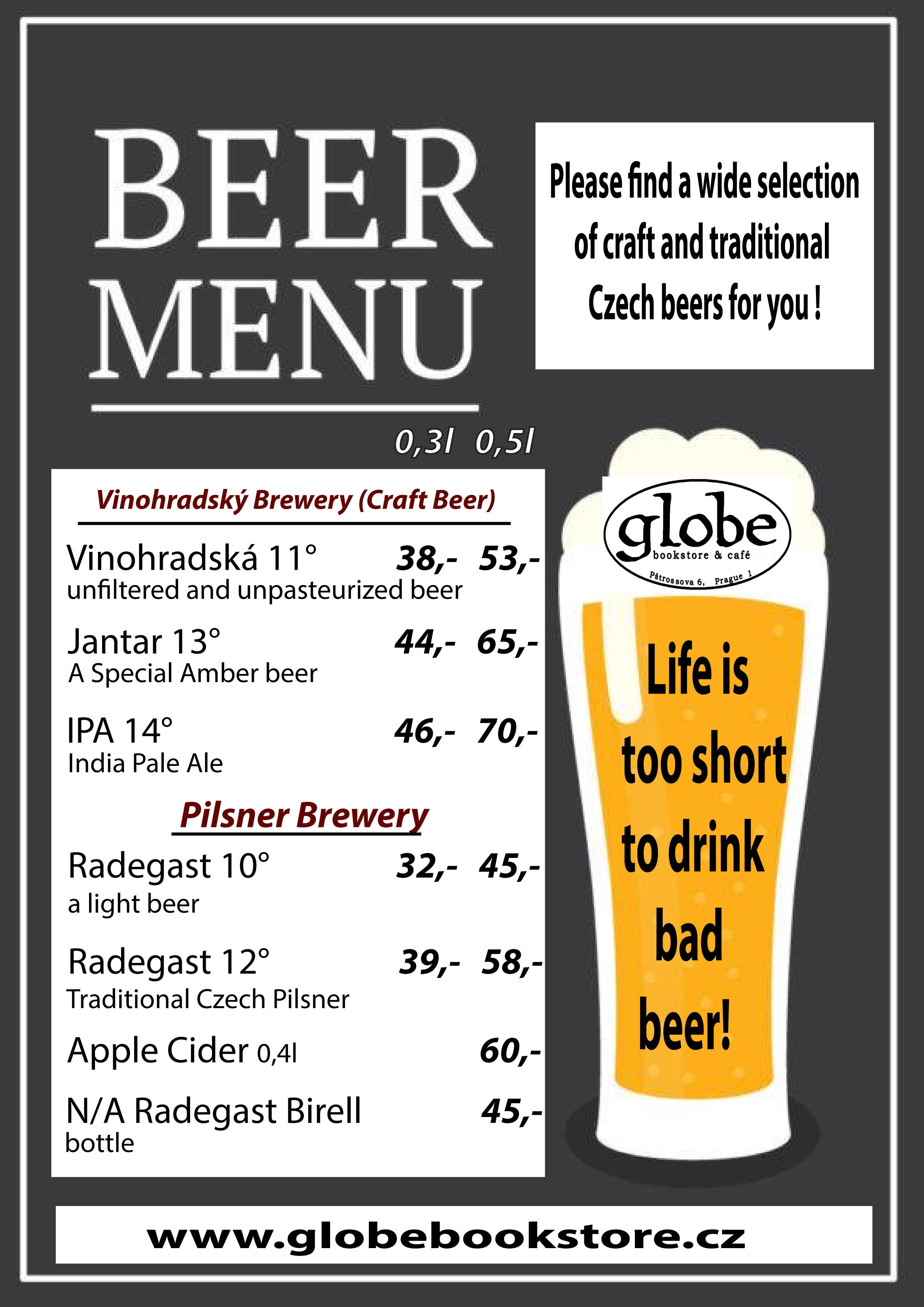 beer menu 2018