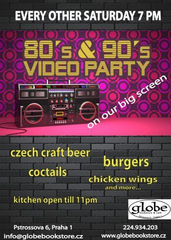 saturday 80 90 party flier