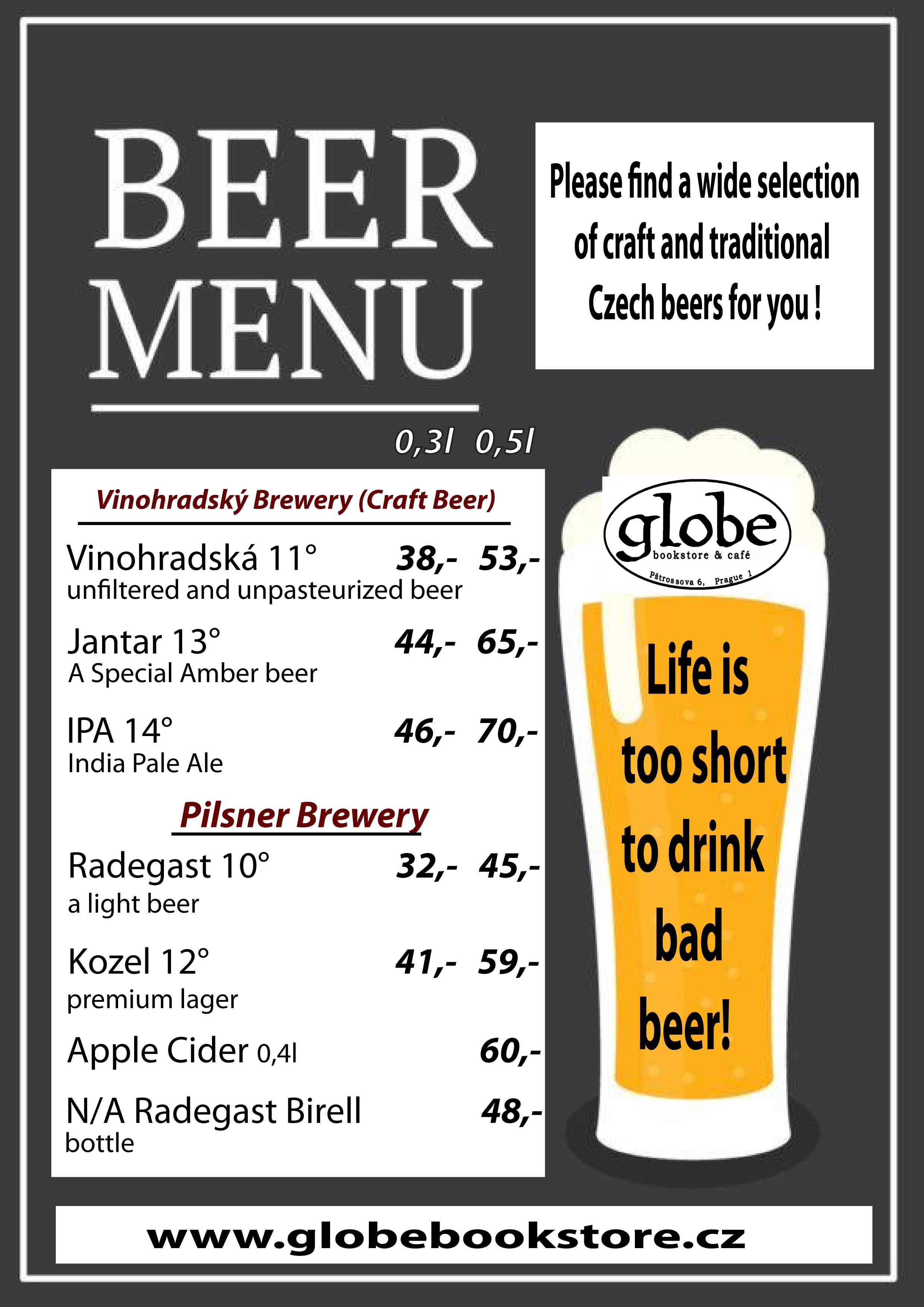 beer menu 2019