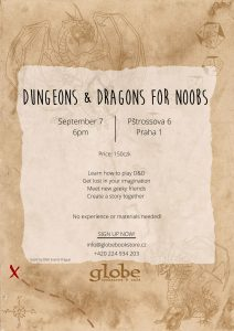 Dungeon and Dragons for Noobs ( and anyone else ) @ The Globe Bookstore and Café