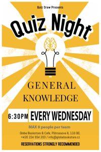General Quiz Night @ The Globe Bookstore & Café